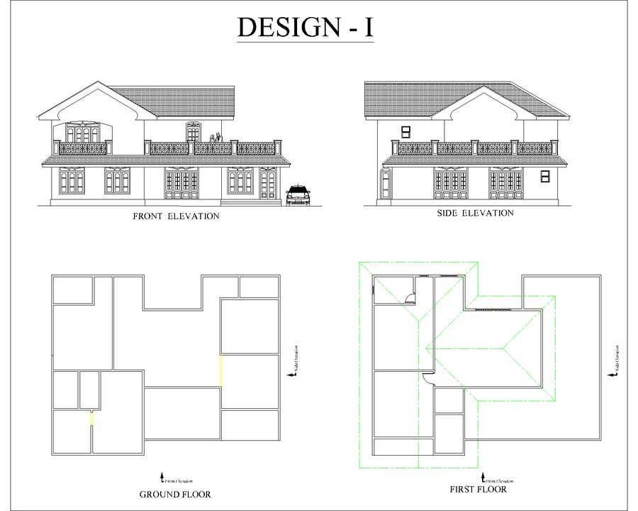 Bài tham dự cuộc thi #9 cho Draw colonial elevation for a floor plan