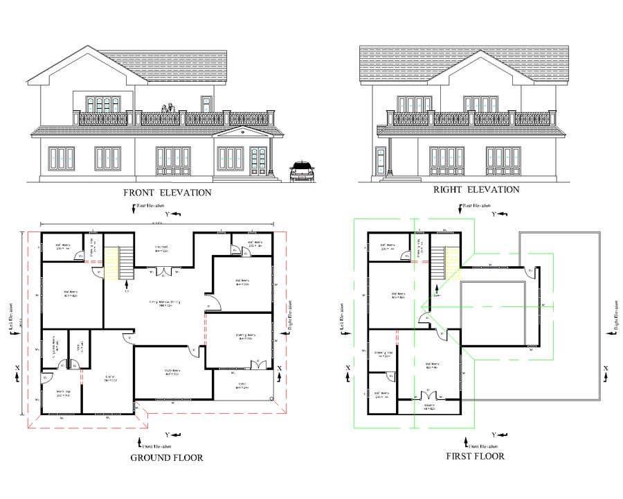 Bài tham dự cuộc thi #24 cho Draw colonial elevation for a floor plan