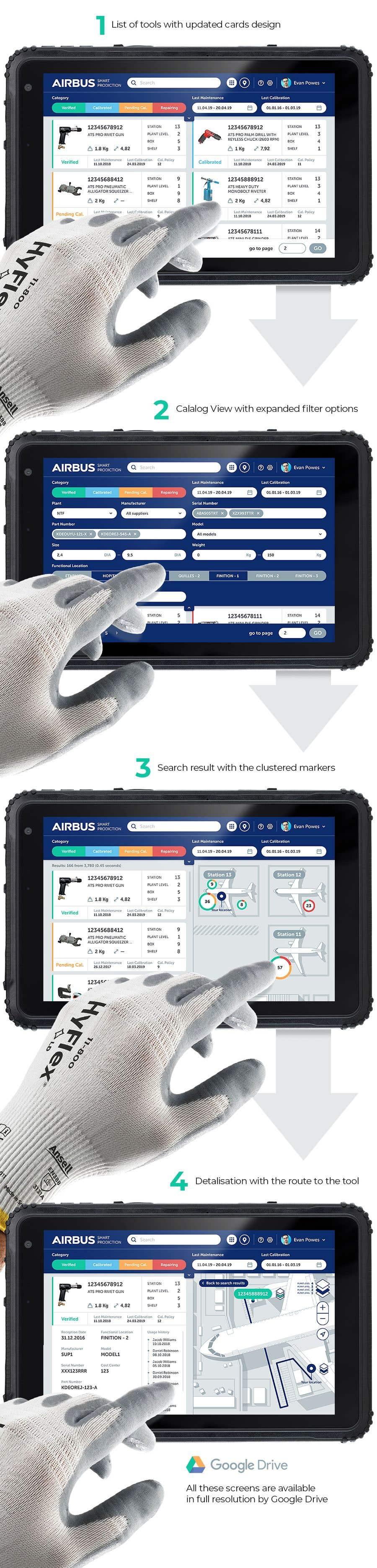 Конкурсная заявка №240 для Mockup an aerospace app for Airbus!