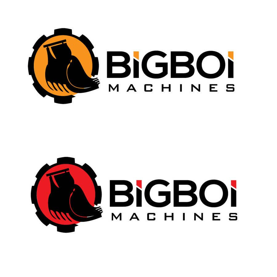 """Konkurrenceindlæg #22 for I have just started an excavation hire business and I need a logo designed for it. I'm looking for a new creative modern design rather than the standard 'run of the mill' logo.   The business name is """"Big Boi Machines""""."""