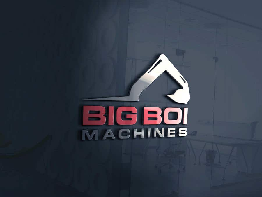 """Konkurrenceindlæg #85 for I have just started an excavation hire business and I need a logo designed for it. I'm looking for a new creative modern design rather than the standard 'run of the mill' logo.   The business name is """"Big Boi Machines""""."""