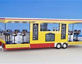 #8 для I need an approximate layout of a trailer converted into a bar. The trailer is 8m x 2.1m. Must have a bar for serving drinks and seating area. Designer can send the layout, front view, side view or possibly 3d model. от maxelf1367