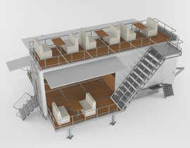 #54 para I need an approximate layout of a trailer converted into a bar. The trailer is 8m x 2.1m. Must have a bar for serving drinks and seating area. Designer can send the layout, front view, side view or possibly 3d model. por yanko999