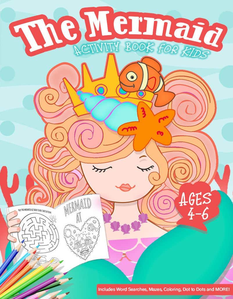 Penyertaan Peraduan #53 untuk Mermaid Activity Book Cover (Ages 4-6)