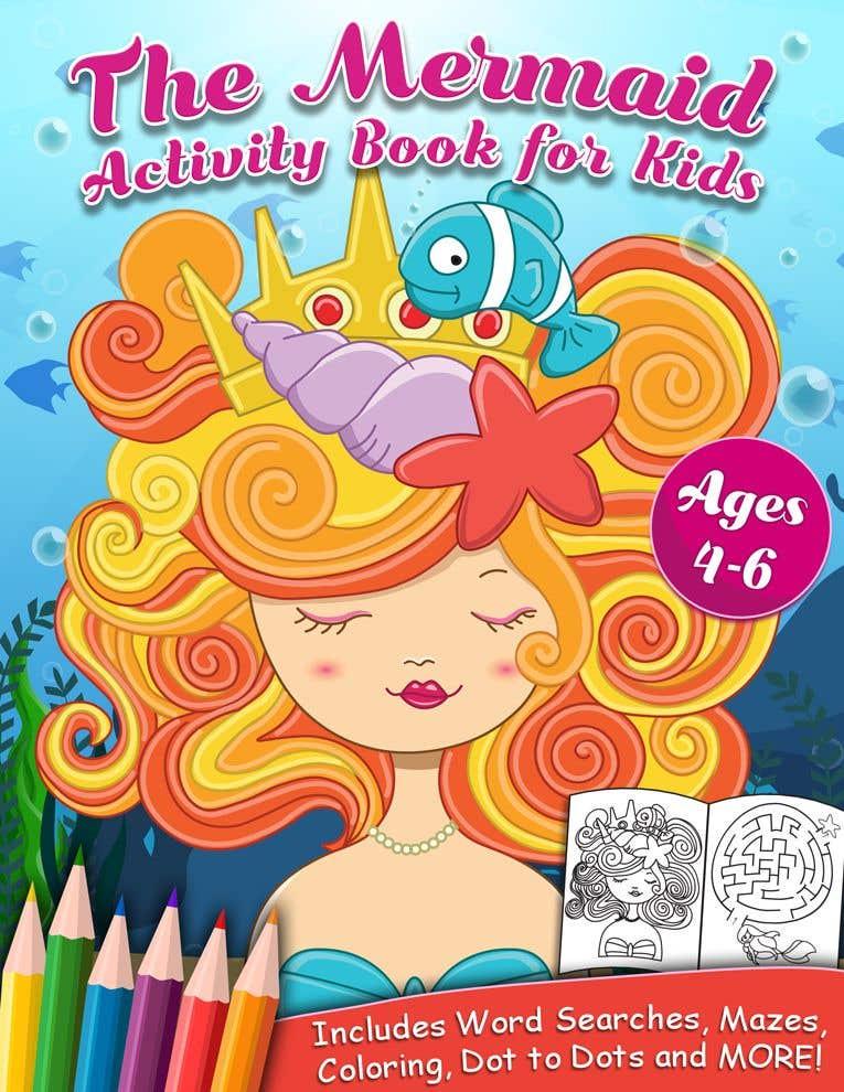 Penyertaan Peraduan #57 untuk Mermaid Activity Book Cover (Ages 4-6)