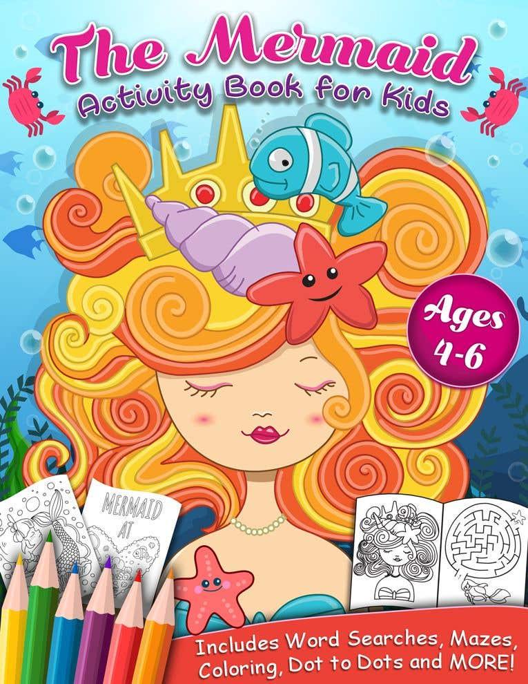 Penyertaan Peraduan #58 untuk Mermaid Activity Book Cover (Ages 4-6)