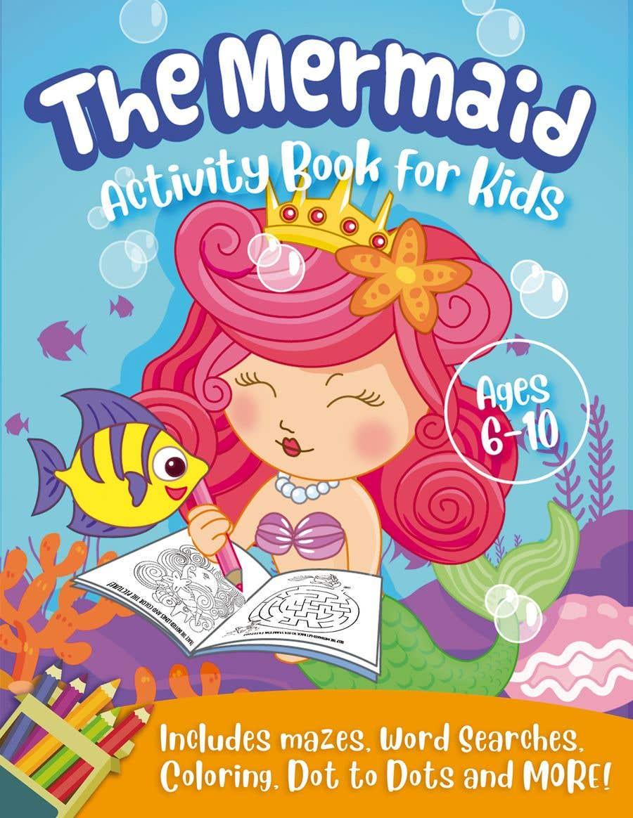 Penyertaan Peraduan #32 untuk Mermaid Activity Book Cover (Ages 4-6)