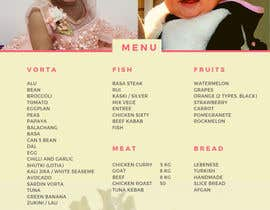 #11 untuk Make a Food Menue for Nureen Birthday oleh Davidbab