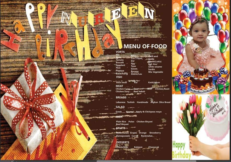Bài tham dự cuộc thi #9 cho Make a Food Menue for Nureen Birthday
