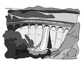 Nro 12 kilpailuun Minimalist Re-Creation of a Dam. Tattoo Drawing käyttäjältä LizaShtefan