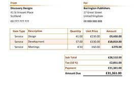 #27 for Create a Branded Excel Invoice for a Jewellery Company af sahanchatu
