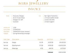 #1 for Create a Branded Excel Invoice for a Jewellery Company af rachelmconnor