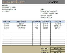 #41 para Create a Branded Excel Invoice for a Jewellery Company por akshayovhal215