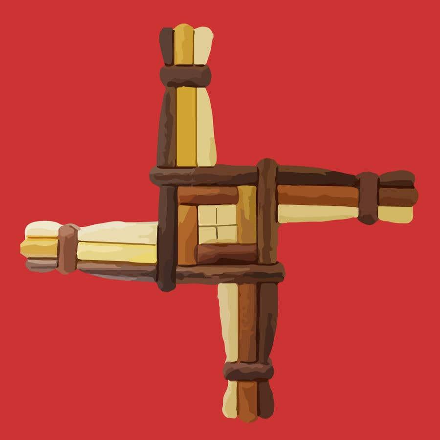 Penyertaan Peraduan #17 untuk Design me an Image Cartoon Style - Irish St Bridgets Cross