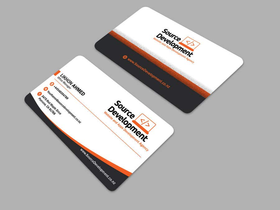 Kilpailutyö #315 kilpailussa Re-Design a Business Card for a Website & App Development Company