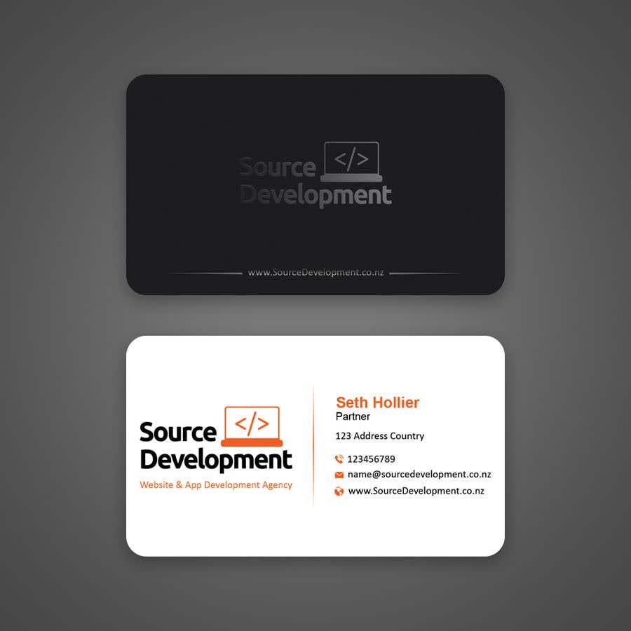 Inscrição nº 100 do Concurso para Re-Design a Business Card for a Website & App Development Company