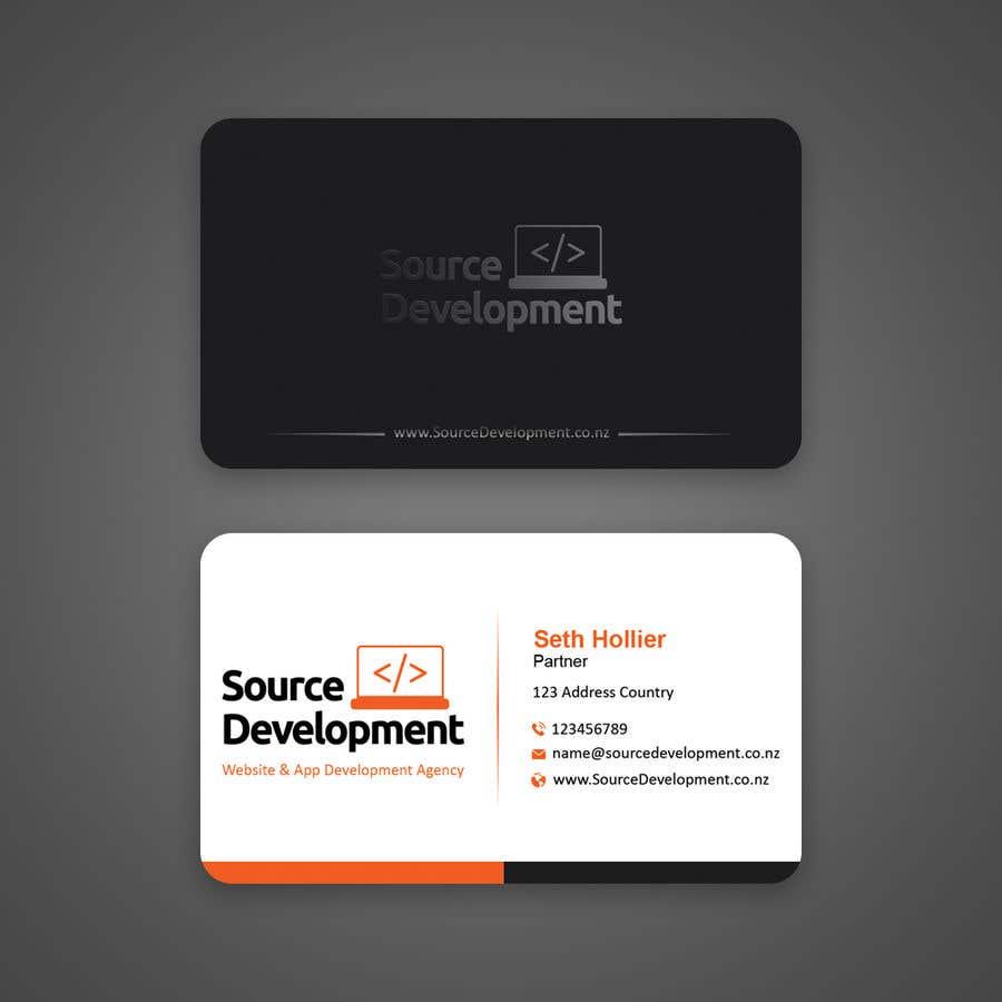 Inscrição nº 101 do Concurso para Re-Design a Business Card for a Website & App Development Company