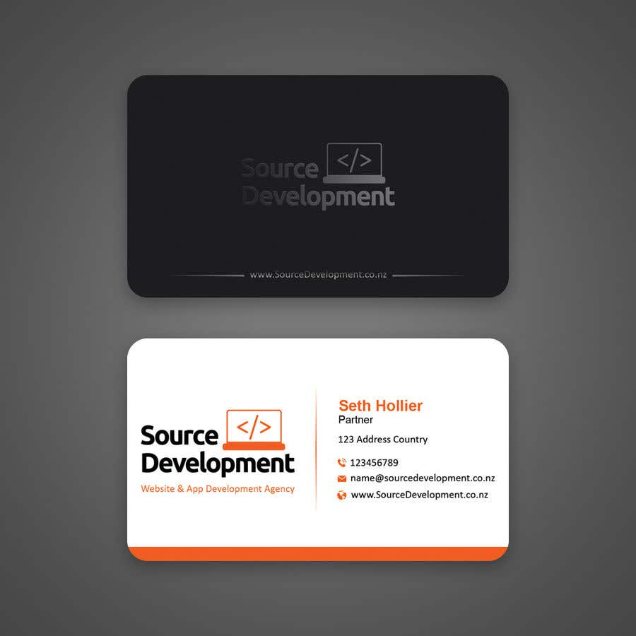 Inscrição nº 102 do Concurso para Re-Design a Business Card for a Website & App Development Company