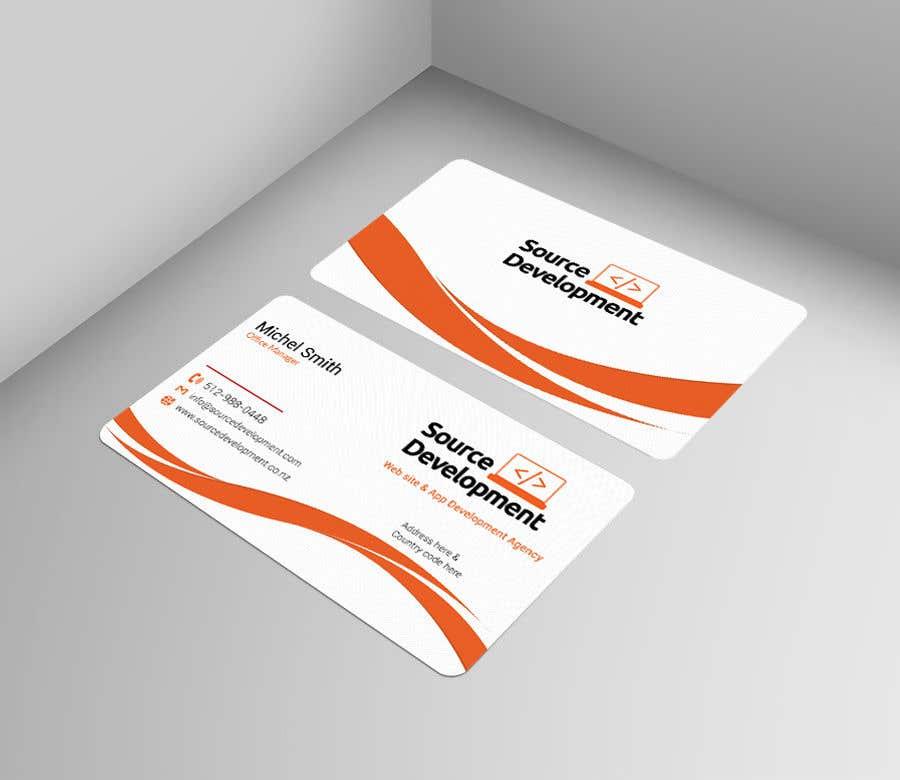 Kilpailutyö #357 kilpailussa Re-Design a Business Card for a Website & App Development Company