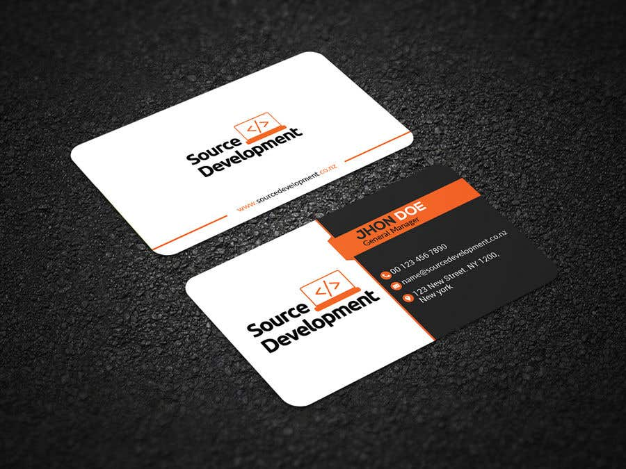 Kilpailutyö #250 kilpailussa Re-Design a Business Card for a Website & App Development Company