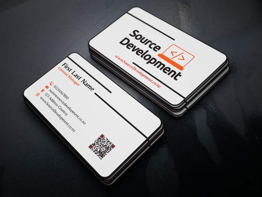 Kilpailutyö #127 kilpailussa Re-Design a Business Card for a Website & App Development Company