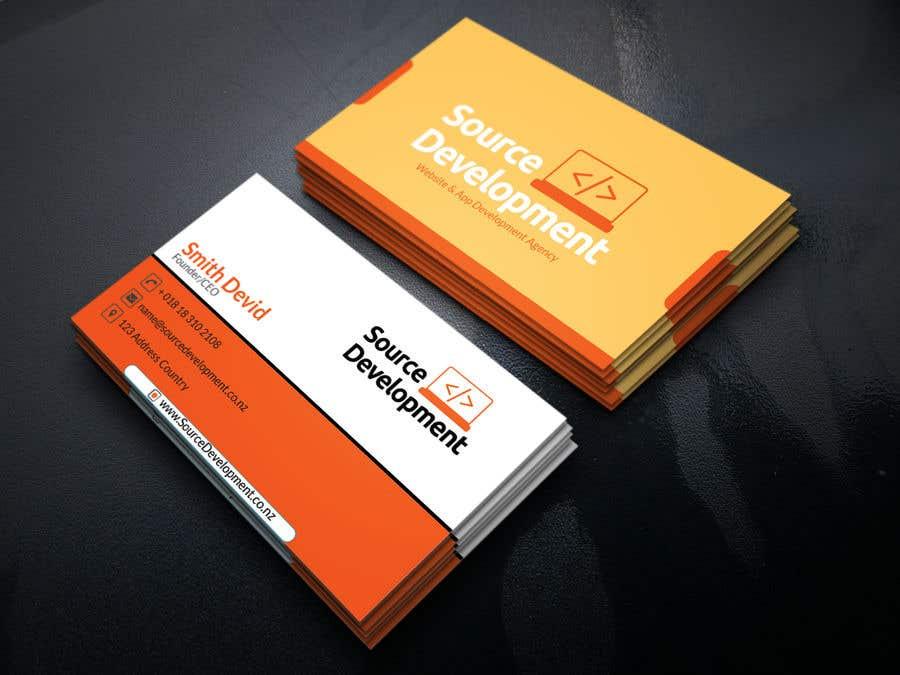 Kilpailutyö #69 kilpailussa Re-Design a Business Card for a Website & App Development Company