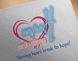 "Nro 16 kilpailuun 1. I want the logo to have the format of IMG_0602 2. With a pink heart like IMG_0603 3. With the script of IMG_0604 4. 1st line. ""nevaeH"" 2nd line ""Safe Place"".  3rd ""Turning heart break to hope"" käyttäjältä victoraguilars"