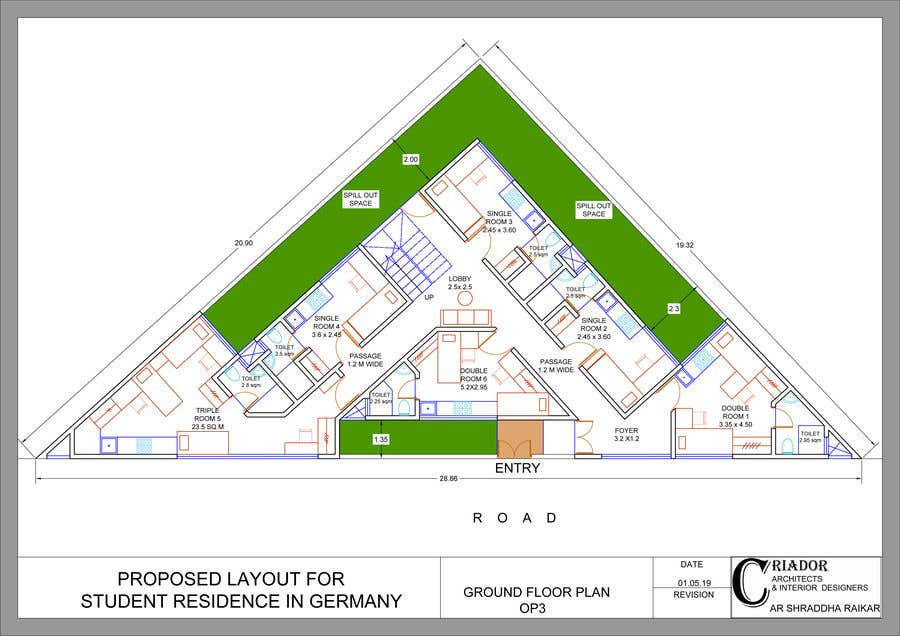 Proposition n°57 du concours Floor Plan needed for a student residence