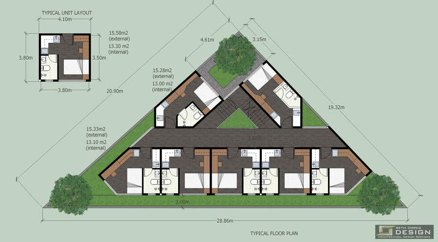 Proposition n°47 du concours Floor Plan needed for a student residence