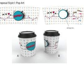 #47 for Paper Coffee Cup Designs by quackee