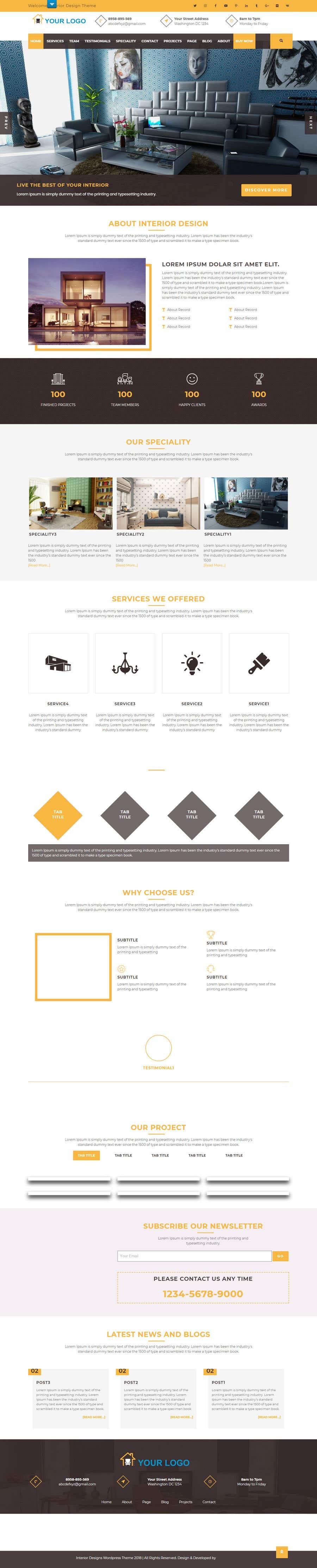Penyertaan Peraduan #32 untuk Build Me A Website Template For An Interior Designer