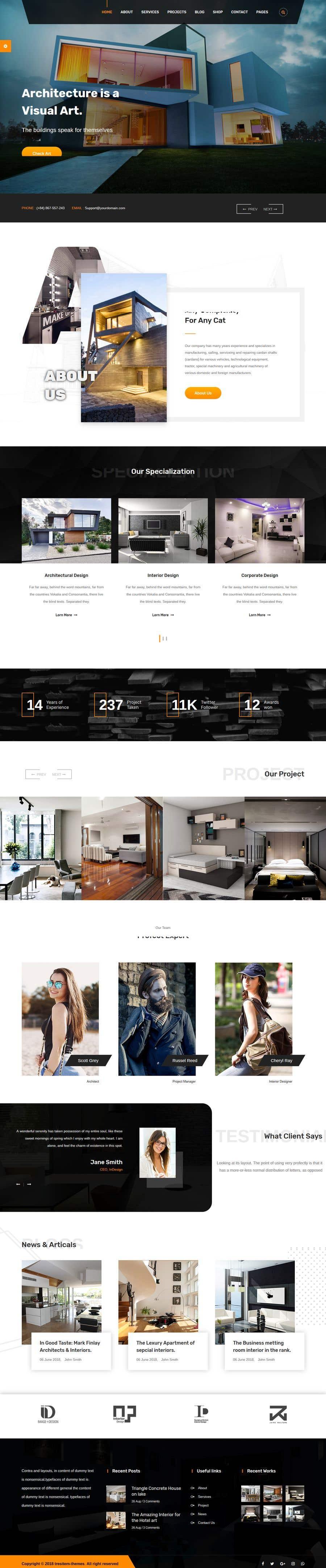 Penyertaan Peraduan #5 untuk Build Me A Website Template For An Interior Designer