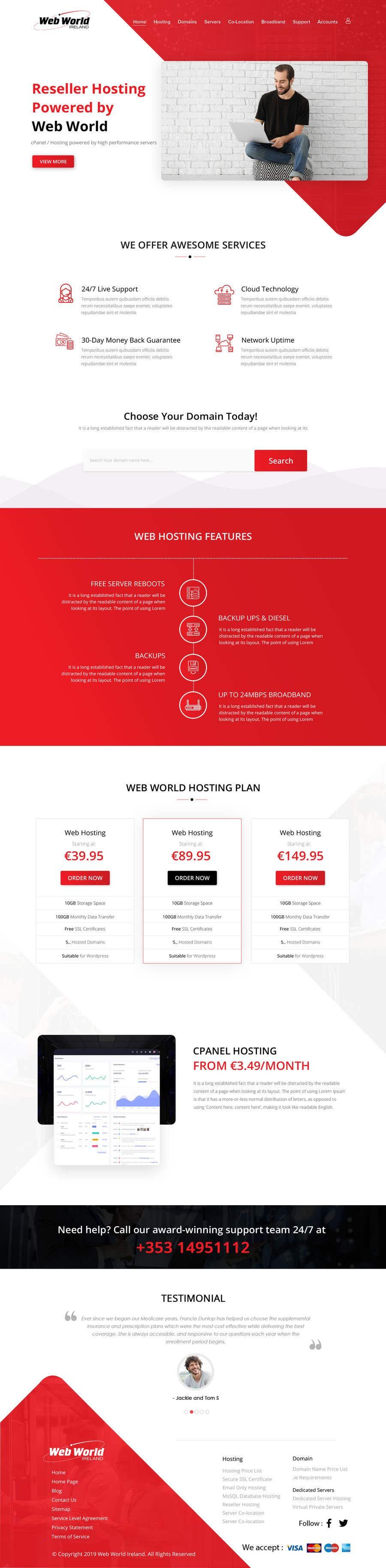 Kilpailutyö #61 kilpailussa Creative holding page for hosting company