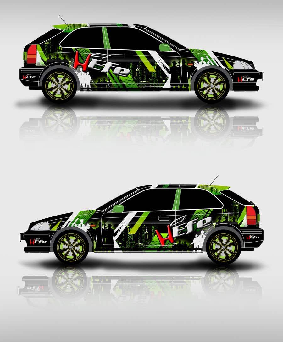 Penyertaan Peraduan #25 untuk Full Color Gangster Wrap Design for Honda race car
