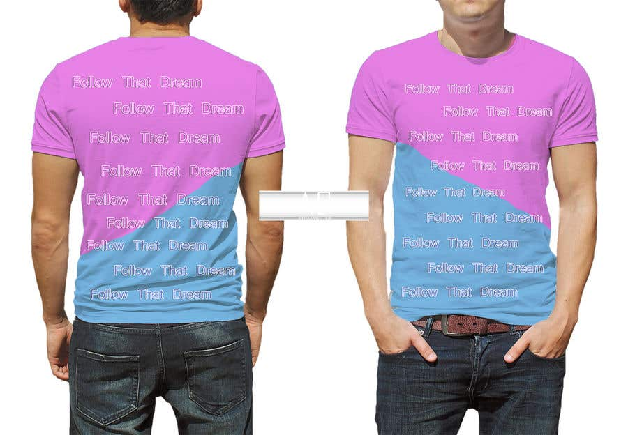 Proposition n°6 du concours I need this shirt mocked up. At parts I'd like the words to overlap pink to blue, changing color mid sentence or mid letter. I need to send this to a manufacturer to get it made. Thank you. Questions please dm.
