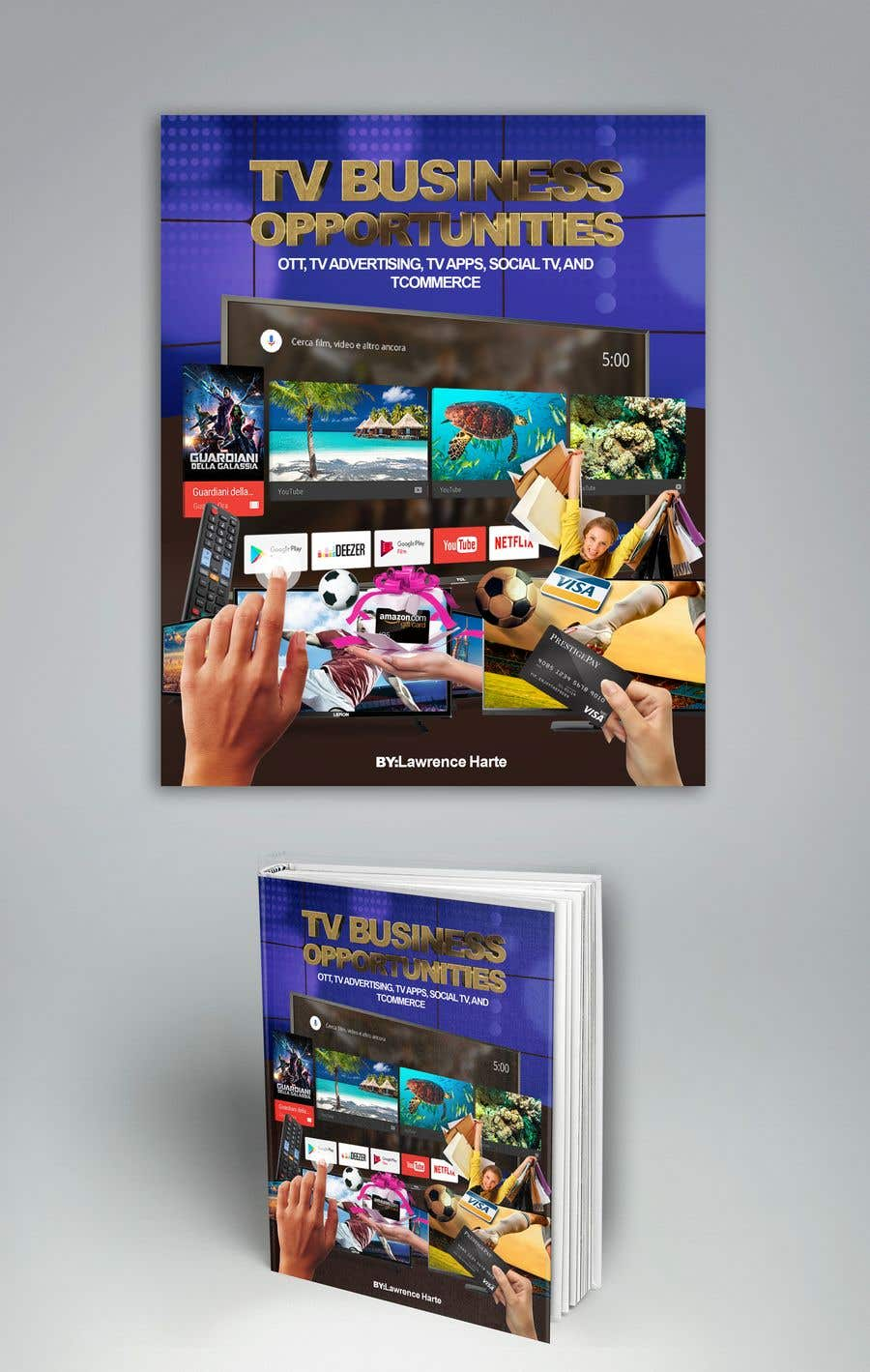 Bài tham dự cuộc thi #58 cho Create a Front Book Cover Image about New TV Business Opportunities