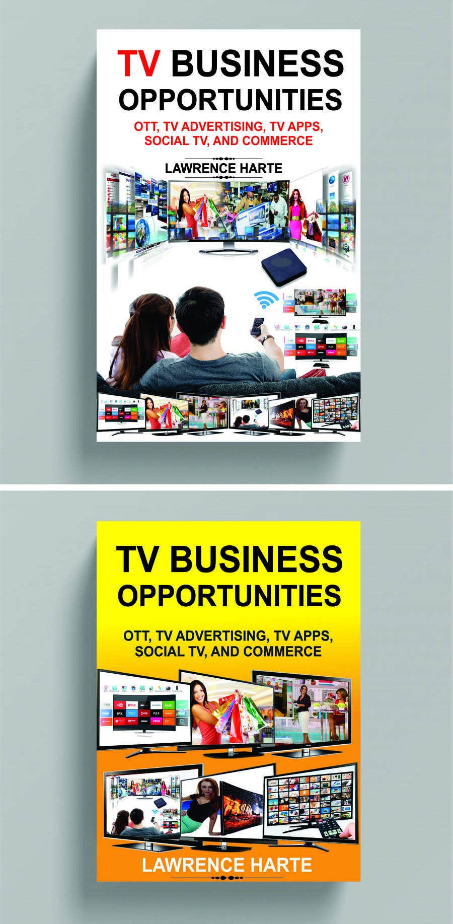 Proposition n°54 du concours Create a Front Book Cover Image about New TV Business Opportunities