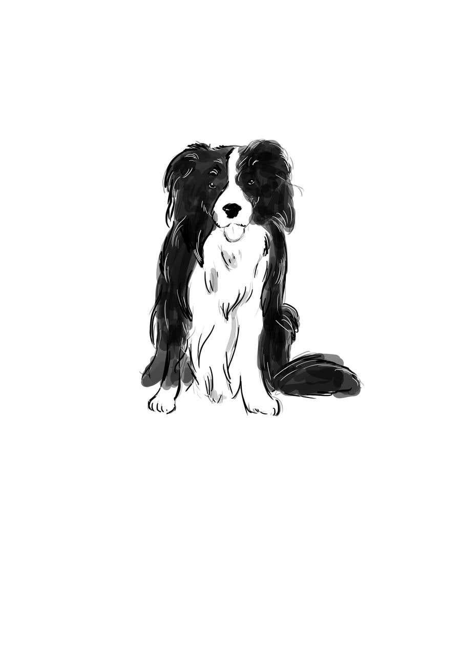 Penyertaan Peraduan #11 untuk Create 11 simple b&w illustrations of dogs and mice for a book