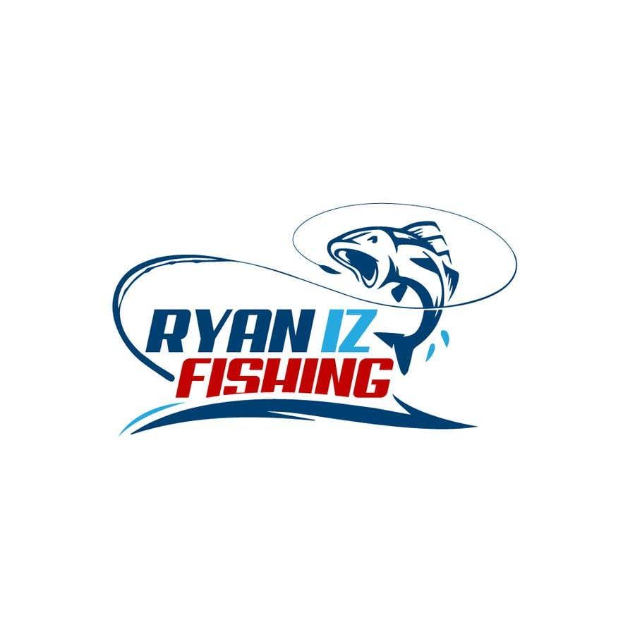 """Kilpailutyö #418 kilpailussa Create a Fishing Logo """"RYAN IZ FISHING"""""""