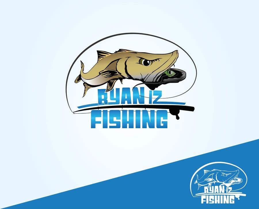 """Kilpailutyö #420 kilpailussa Create a Fishing Logo """"RYAN IZ FISHING"""""""