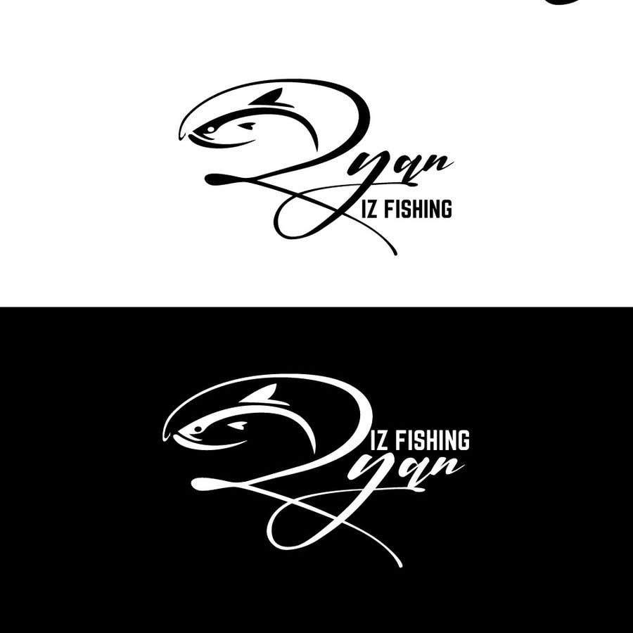 """Kilpailutyö #298 kilpailussa Create a Fishing Logo """"RYAN IZ FISHING"""""""