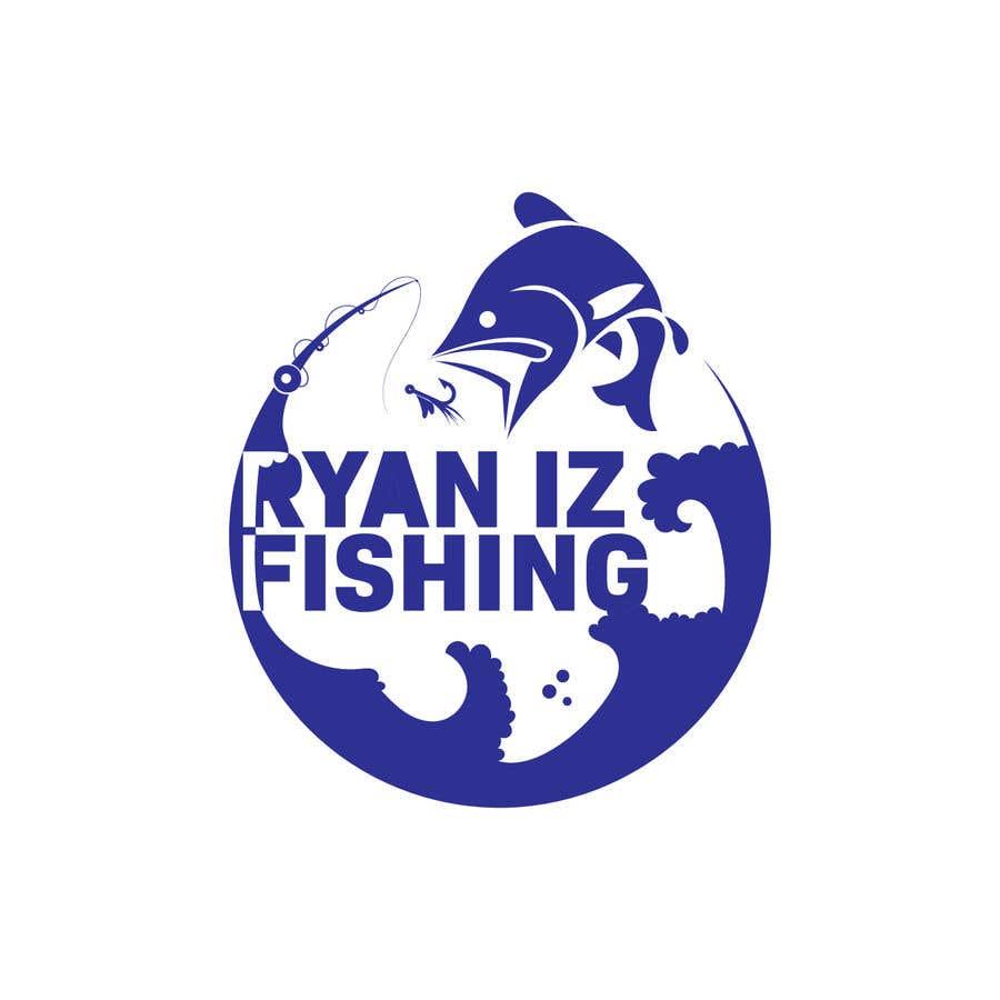 """Kilpailutyö #390 kilpailussa Create a Fishing Logo """"RYAN IZ FISHING"""""""