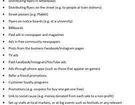 Nro 3 kilpailuun Quick Marketing strategy käyttäjältä rachelmconnor