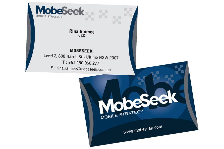 Contest Entry #107 for Business Card Design for MobeSeek