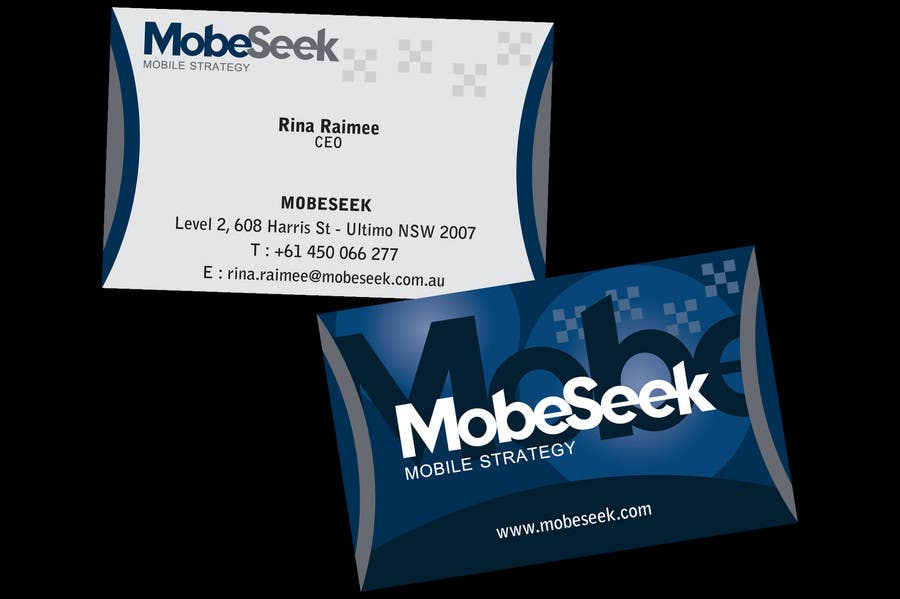 Конкурсная заявка №108 для Business Card Design for MobeSeek