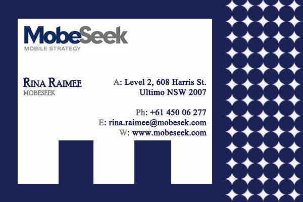 Contest Entry #106 for Business Card Design for MobeSeek