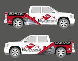 #51 para Partial truck wrap Grace Roofing & Construction por TheFaisal