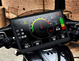 #9 cho Graphic for motorcycle dashboard bởi Watfa3D
