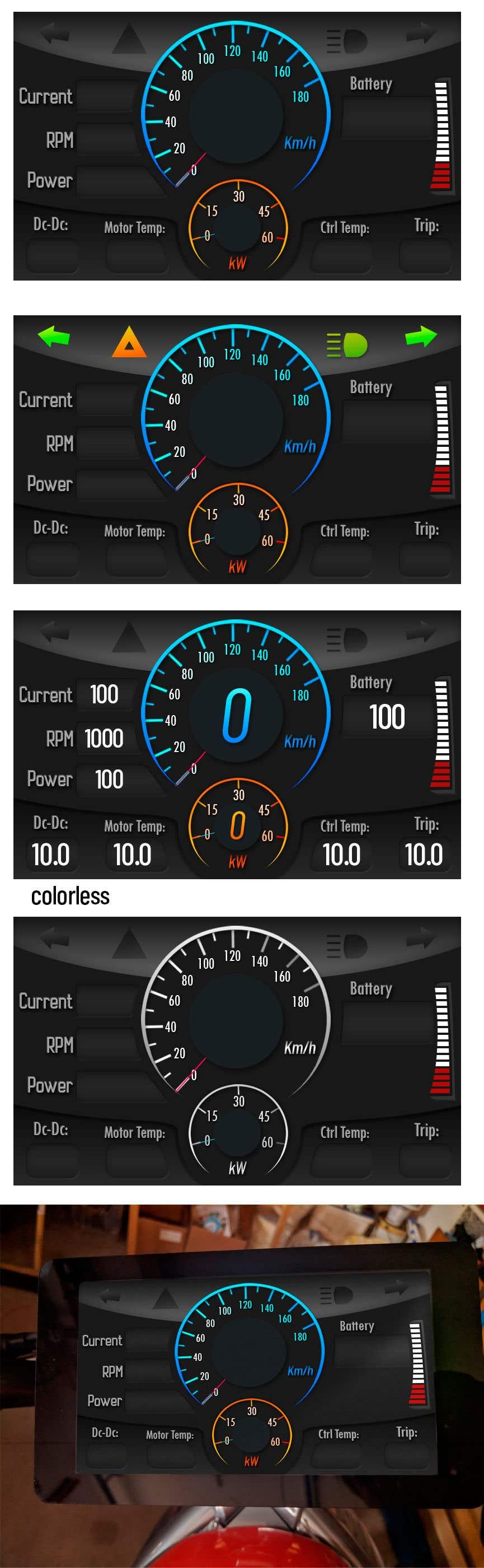 Bài tham dự cuộc thi #26 cho Graphic for motorcycle dashboard