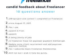 Nro 39 kilpailuun Provide candid feedback about Freelancer käyttäjältä Nawab266